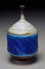 Frosted Bottle by Nicholas Bernard (Ceramic Vessel)