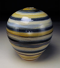 Banded vessel by Nicholas Bernard (Ceramic Vessel)