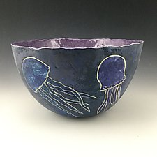 Jellyfish Bowl by Berit Hines (Ceramic Bowl)
