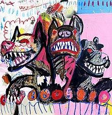 La Triade by Jason Balducci (Mixed-Media Painting)
