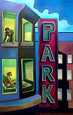 Open Windows, Park by Jason Watts (Oil Painting)