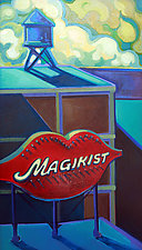 Building View, Magikist Sign by Jason Watts (Oil Painting)