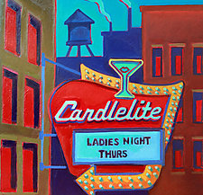 Candlelite (Ladies Night) by Jason Watts (Oil Painting)
