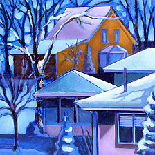 February Snow by Jason Watts (Oil Painting)
