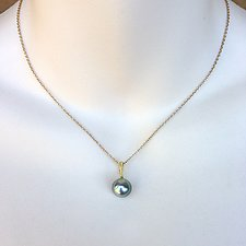Gray South Sea Pearl Pendant by Kathleen Lynagh (Gold & Pearl Necklace)