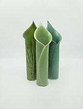 Hosta Bud Vases by Kim Cutler (Ceramic Vase)