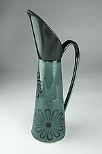 Ibis Pitcher with Flower Pattern by Kim Cutler (Ceramic Pitcher)