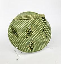 Posey Pocket Olive Wall Vase by Kim Cutler (Ceramic Vase)