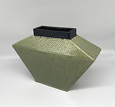 Trapezoidal Vase by Kim Cutler (Ceramic Vase)
