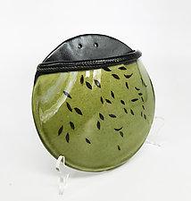 Posey Pocket Leafy Wall Vase by Kim Cutler (Ceramic Vase)