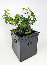 Classic Black Planter by Kim Cutler (Ceramic Vase)