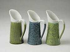 Patterned Sauce Pitchers by Kim Cutler (Ceramic Pitchers)
