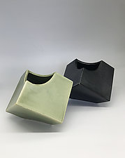 Tipsy Cube by Kim Cutler (Ceramic Vase)