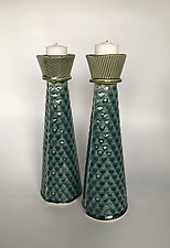 Handsome Candle Stands by Kim Cutler (Ceramic Candleholder)