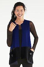 Button Pocket Vest by Sandra Miller (Knit Vest)