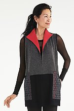 Pop Collar Vest by Sandra Miller (Knit Vest)