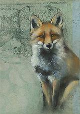 Fox on Rhino by Sylvia Gonzalez (Giclee Print)