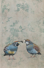 Quails on Silver by Sylvia Gonzalez (Giclee Print)