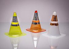 Traffic Cone by J Shannon Floyd (Art Glass Sculpture)