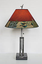 New Capri Adjustable Height Steel Table Lamp by Janna Ugone (Mixed-Media Table Lamp)