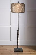 Twigs Adjustable Height Steel Floor Lamp by Janna Ugone (Mixed-Media Floor Lamp)