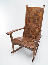 Cabled Rocker by Alan Daigre (Wood Rocking Chair)