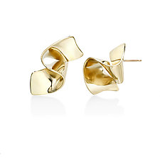 Showing Up Medal Earrings by Mia Hebib (Gold & Brass Earrings)