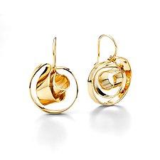 Mobius Earrings by Mia Hebib (Gold & Brass Earrings)