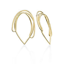 Drawing No1 Earrings by Mia Hebib (Gold & Brass Earrings)