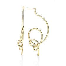 Clouds Earrings by Mia Hebib (Gold & Brass Earrings)