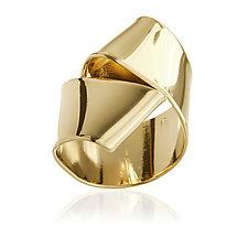 Bowtie Ring by Mia Hebib (Gold & Brass Ring)