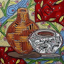 Vessels in Dreamtime No.19 by Nan Hass Feldman (Oil Painting)