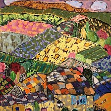 The Valley of the Luberon by Nan Hass Feldman (Mixed-Media Painting)