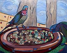 Birds Down Under No.2 by Nan Hass Feldman (Oil Painting)