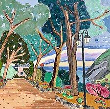 Walking to LaCabana, Monterosso by Nan Hass Feldman (Giclee Print)