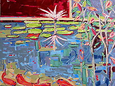 Into the Pond No.1 by Nan Hass Feldman (Oil Painting)