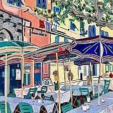 Umbrellas of Vernazza by Nan Hass Feldman (Giclee Print)