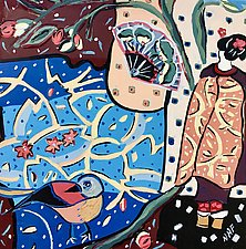 Jewels of the Floating World No.2 by Nan Hass Feldman (Oil Painting)