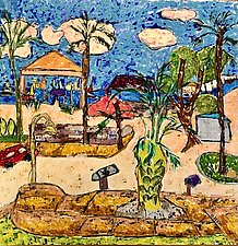 The View to Gulfport Harbor by Nan Hass Feldman (Mixed-Media Painting)