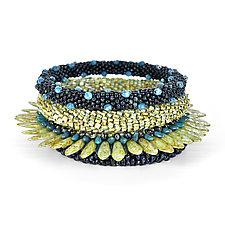 Crocheted Bangle Set by Olga Mihaylova (Beaded Bracelets)