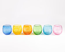 Colorful Sparkle Cups by Public Glass (Art Glass Drinkware)