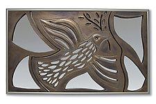 Peace Dove Mirror Mosaic by Amy Elswick (Ceramic Mirror)