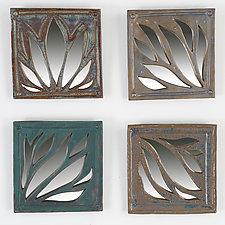 Natural Flow Mirror Tiles by Amy Elswick (Ceramic Mirror)