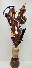 Ballerina by Alan Levine (Wood Sculpture)