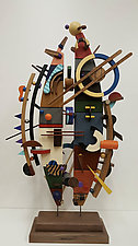 Intersecting Streams by Alan Levine (Wood Sculpture)