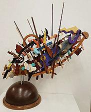 Birds in Flight by Alan Levine (Wood Sculpture)
