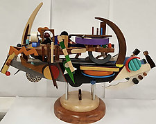 Maiden Voyage by Alan Levine (Wood Sculpture)