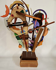 Cadence by Alan Levine (Wood Sculpture)