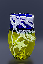 Starfish in the Kelp by Cynthia Myers (Art Glass Vase)