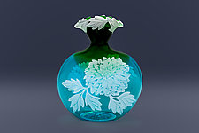 My Dahlias by Cynthia Myers (Art Glass Vase)